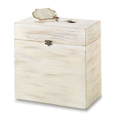 Wooden Key Card Box in Cream
