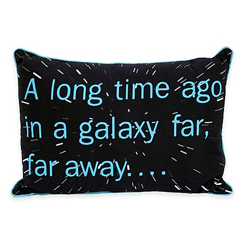 Star Wars Classic Sayings Oblong Throw Pillow - buybuy BABY