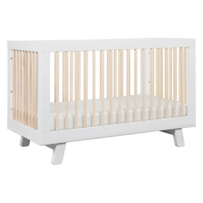Babyletto Hudson 3-in-1 Convertible Crib in White/Natural