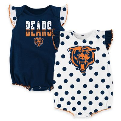 NFL Chicago Bears Polka Fan Size 3-6M 2-Piece Creeper Set
