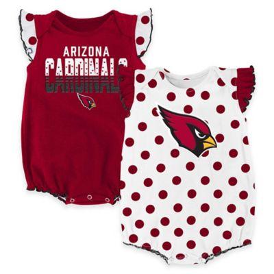 NFL Arizona Cardinals Polka Fan Size 0-3M 2-Piece Creeper Set