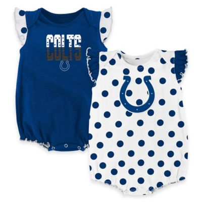 NFL Indianapolis Colts Polka Fan Size 0-3M 2-Piece Creeper Set