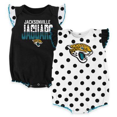 NFL Jacksonville Jaguars Polka Fan Size 3-6M 2-Piece Creeper Set