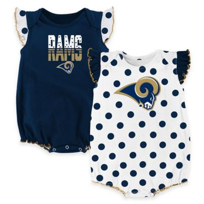 NFL St. Louis Rams Polka Fan Size 0-3M 2-Piece Creeper Set