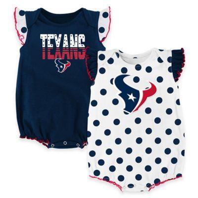 NFL Houston Texans Polka Fan Size 18M 2-Piece Creeper Set