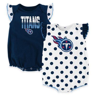 NFL Tennessee Titans Polka Fan Size 3-6M 2-Piece Creeper Set