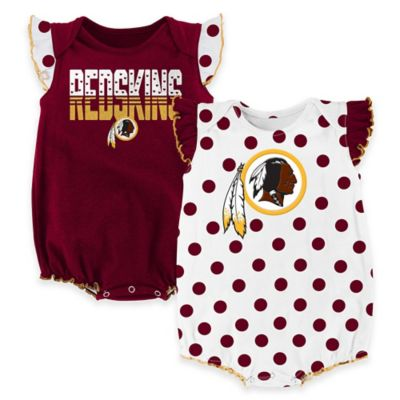 NFL Washington Redskins Lil Jersey Size 3-6M 3-Piece Creeper, Bib, and Bootie Set