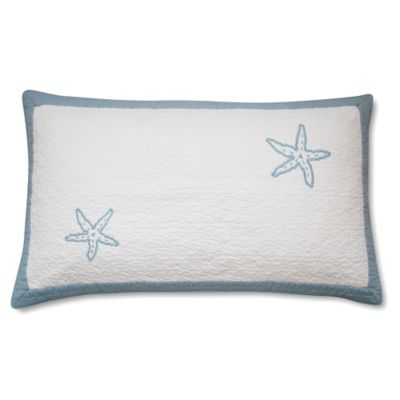 Beach View King Pillow Sham in Sterling Blue