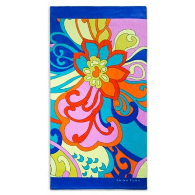 Trina Turk® Cactus Flower Printed Beach Towel