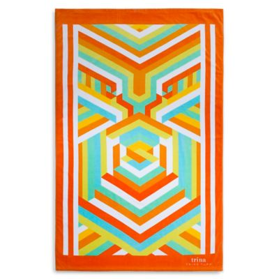 Trina Turk® Mod Hex Printed Beach Towel