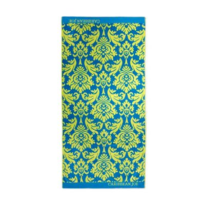 Caribbean Joe Damask Beach Towel in Green