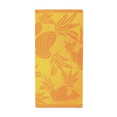 Trina Turk® Caribbean Joe Pineapple Jacquard Beach Towel in Orange