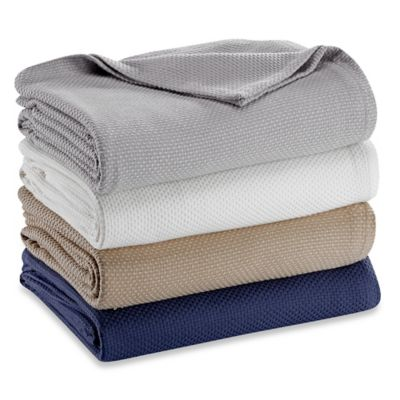 Pure Beech® Zero Twist Cotton/Modal Twin Blanket in Navy