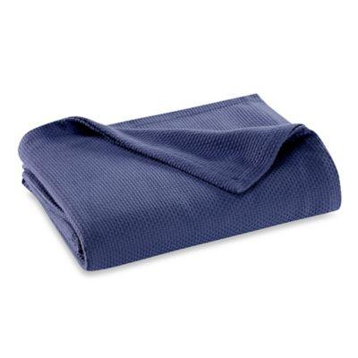 Pure Beech® Zero Twist Cotton/Modal Full/Queen Blanket in Navy
