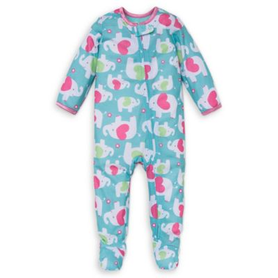 Little Me® Size 12M Elephant Heart Footed Pajama in Mint