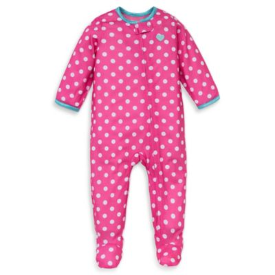 Little Me® Size 12M Polka Dot Footed Pajama in Pink