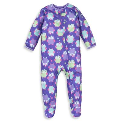 Little Me® Size 12M Owl Print Footed Pajama in Purple