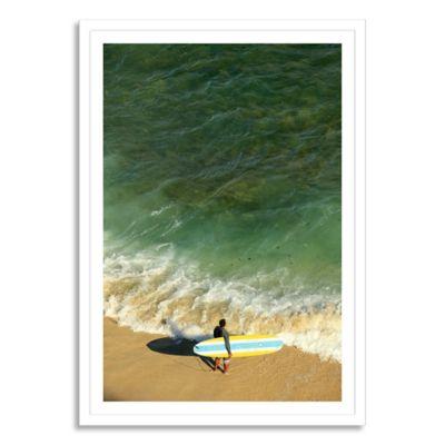Hawaii, Oahu, Honolulu, Waikiki Beach Large Photographic Canvas Wall Art