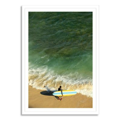 Hawaii, Oahu, Honolulu, Waikiki Beach Extra-Large Photographic Canvas Wall Art
