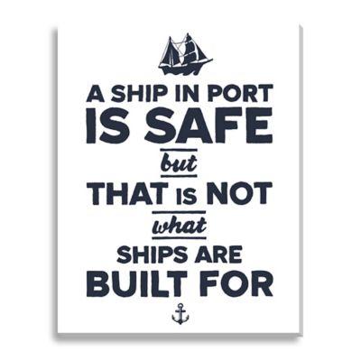 Safe Ship Medium Canvas Wall Art