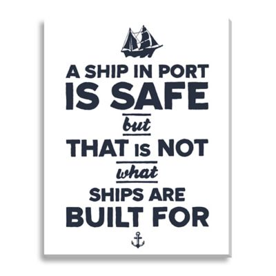 Safe Ship Large Canvas Wall Art
