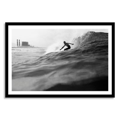 Surfer Framed Photographic Large Canvas Wall Art