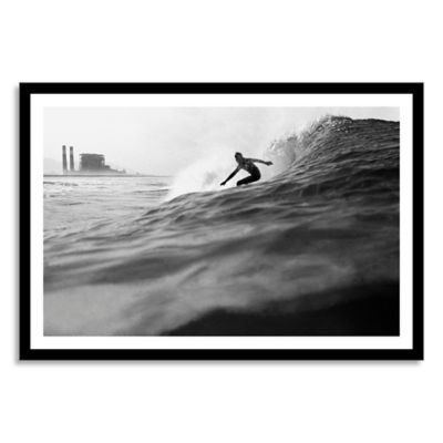 Surfer Framed Photographic Extra-Large Canvas Wall Art