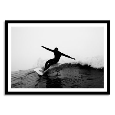 A Male Surfer Rips a Cutback While Surfing Medium Framed Photographic Wall Art