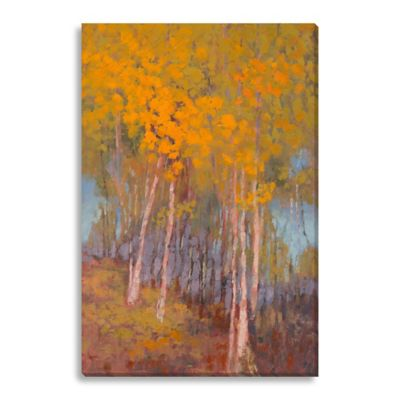 Orange Trees by Suzanne Stewart Large Canvas Wall Art