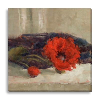 Poppy Season by Suzanne Stewart Medium Canvas Wall Art