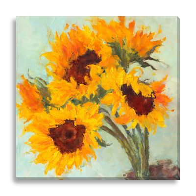 Sunflowers I by Suzanne Stewart Large Canvas Wall Art