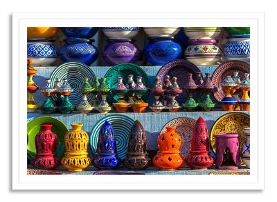 Ceramic Moroccan Large Framed Photographic Wall Art