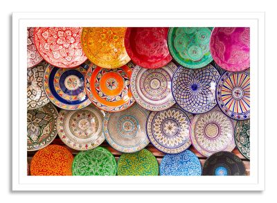 Colors of the Plates Medium Framed Photographic Wall Art