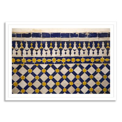 Moroccan Shape Large Framed Photographic Wall Art