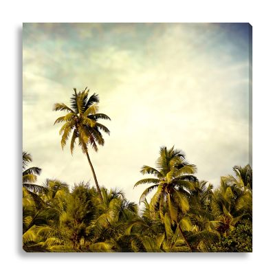Vintage Palm Trees Large Canvas Wall Art