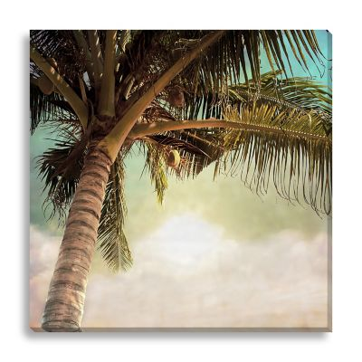Vintage Palm Tree II Large Canvas Wall Art