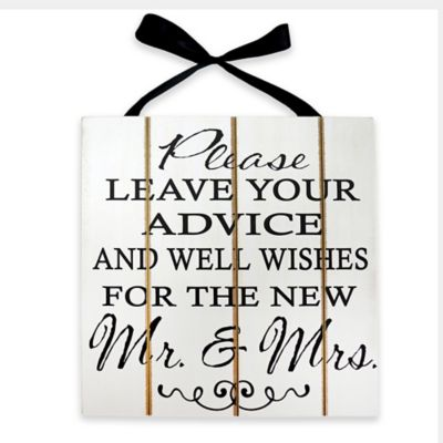 """Advice and Well Wishes"" Wood Plaque Wall Art"