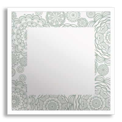 Flowers in Lace Framed & Printed Mirror Art