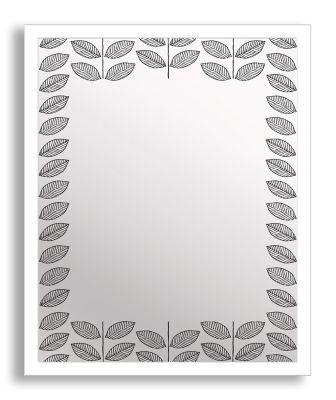 Leaves II Framed & Printed Mirror Art