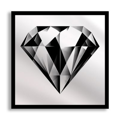 Black Diamond Framed & Printed Mirror Wall Art