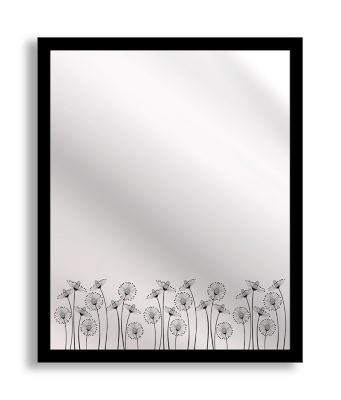 Blooms Framed & Printed Mirror Art