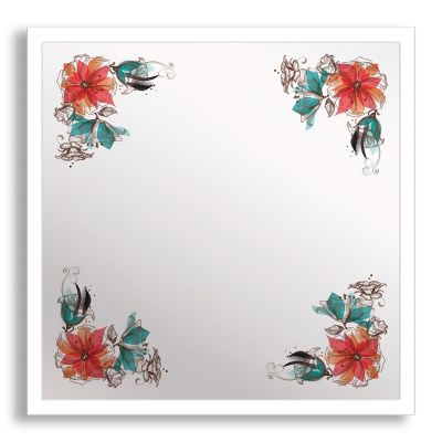 Bouquet Corner Framed & Printed Mirror Wall Art