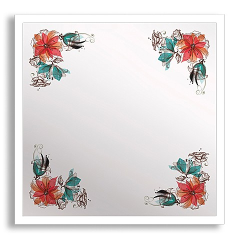 Buy Bouquet Corner Framed Printed Mirror Wall Art From Bed Bath