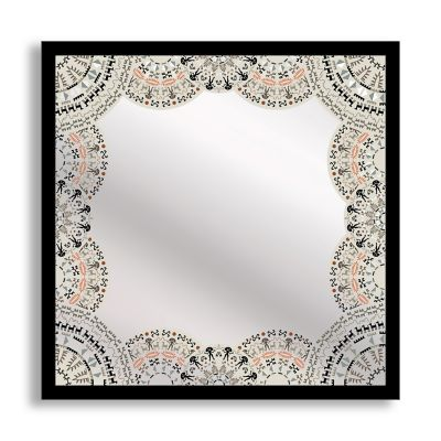 Doily Framed & Printed Mirror Art
