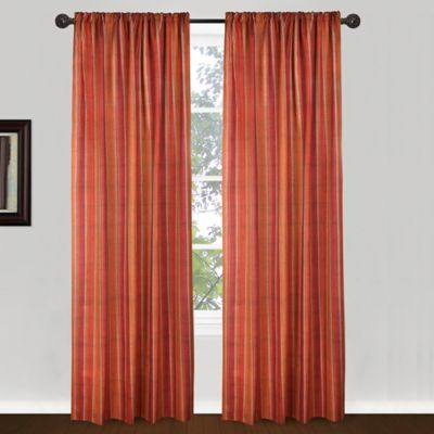 Park B. Smith 84-Inch Banyon Window Curtain Panel in Red/Orange