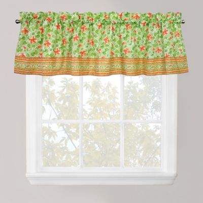 Park B. Smith Boutique Flowers Window Valance in Green