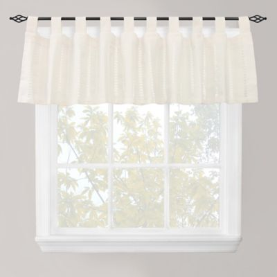 Park B. Smith Eyelet Tab Top Window Valance in Ivory