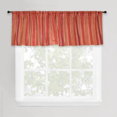 Park B. Smith Banyon Window Valance in Red/Orange