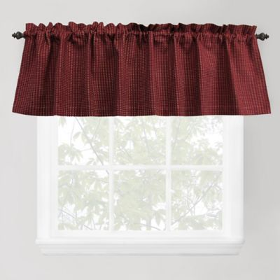Park B. Smith Cortina Window Valance in Redwood