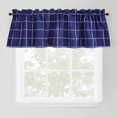 Park B. Smith Durham Square Window Valance in Indigo